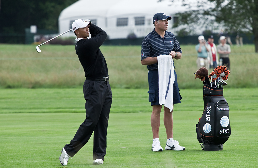 Is Tiger #1 because of his Caddy